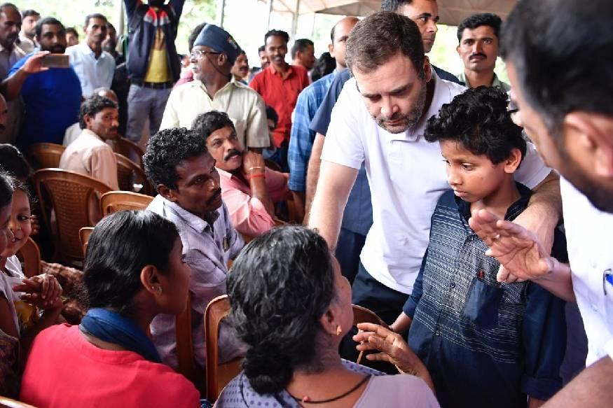 മേപ്പാടി കൂത്തുമല ക്യാമ്പിൽ രാഹുൽ ഗാന്ധി